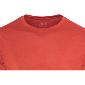 super.natural M's 140 Base Tee Flame Red